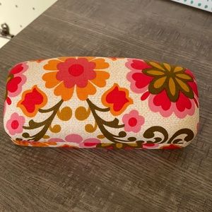 Vera Bradley Folkloric Clamshell Eye Glass or Sun Glass Case Brand New No Tags